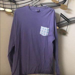Purple and Blue Long Sleeve Shirt